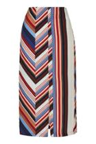 Topshop Deckchair Split Midi Skirt