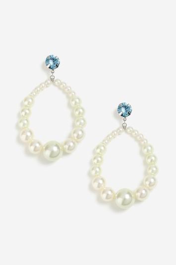 Topshop Pearl Circle Hoop Earrings