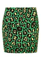 Topshop Rio Leopard Print Mini Skirt