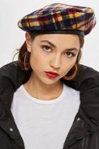 Topshop Brushed Check Beret