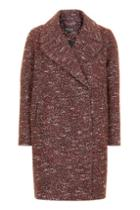 Topshop Double Breasted Cocoon Coat