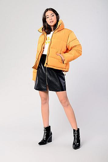 Topshop *padded Puffer Jacket By Glamorous