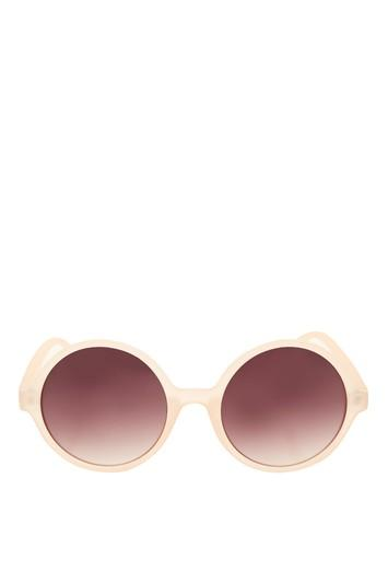 Topshop Lolly Round Sunglasses