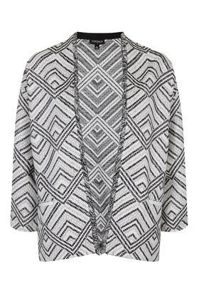 Topshop Fringe Aztec Jacket