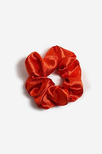 Topshop *orange Satin Hair Scrunchie