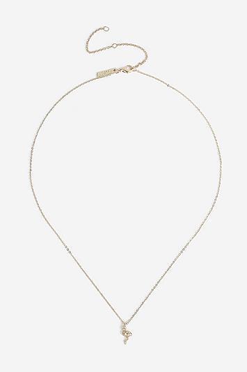 Topshop *flamingo Ditsy Necklace
