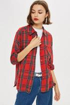 Topshop Washed Check Shirt