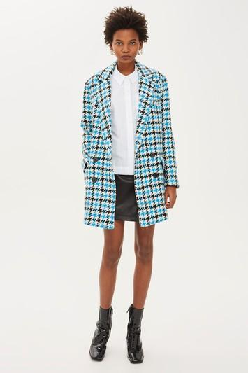 Topshop Houndstooth Coat