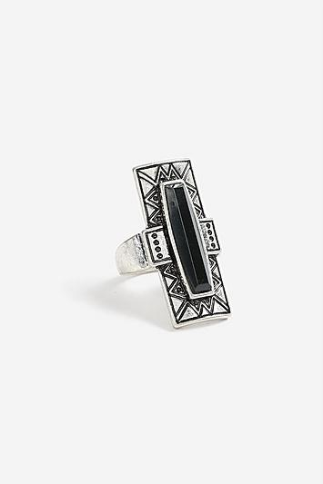 Topshop *rectangle Stone Ring