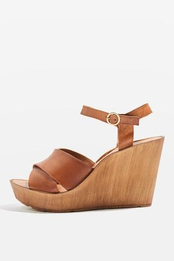Topshop Whisk Cross Strap Wedges