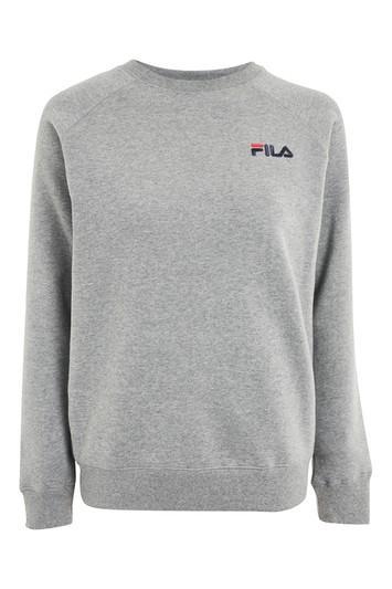 Topshop Applique Back Crew Sweatshirt By Fila
