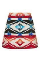 Topshop Petite Jacquard A-line Skirt