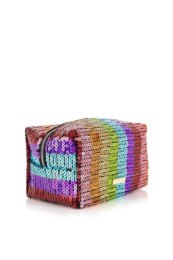 Topshop *rainbow Sequin Make Up Bag By Skinnydip