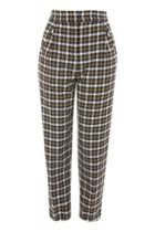 Topshop Checked Peg Trousers