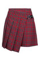Topshop Punky Check Kilt Style Skirt