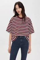 Topshop Stripe Boxy T-shirt