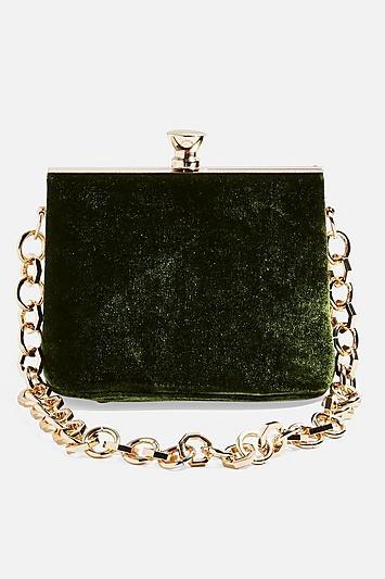 Topshop Margot Velvet Frame Bag