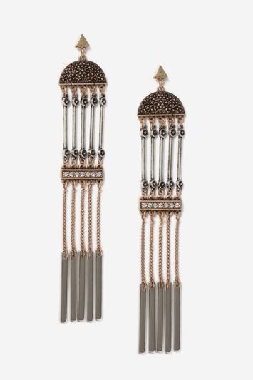 Topshop Engraved Drop Earrings