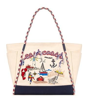 Tory Burch Nautical Canvas Tote
