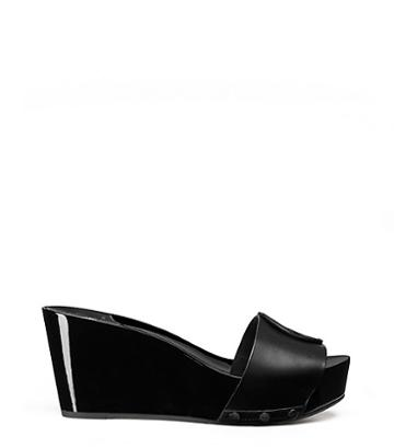 Tory Burch Miller Platform Wedges Slide, Leather