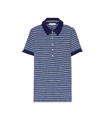 Tory Burch Striped Lacey Polo