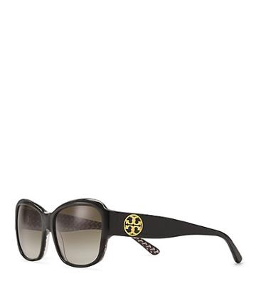 Tory Burch Stacked-t Rectangle Sunglasses