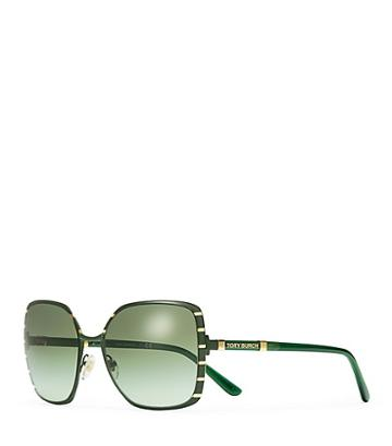 Tory Burch Square Slim-frame Sunglasses
