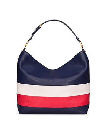 Tory Burch Duet Stripe Hobo