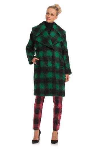 Trina Turk Trina Turk Natty Long Blanket Coat - Green - Size 12