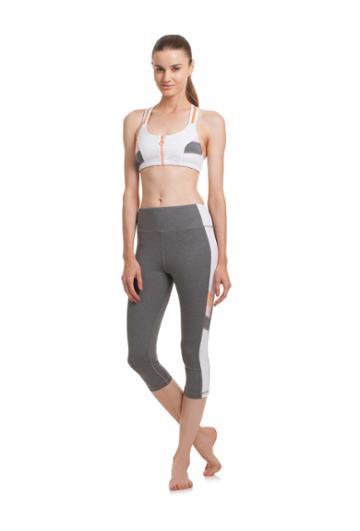 Trina Turk Trina Turk Color Blocked T-back Sports Bra - White - Size L
