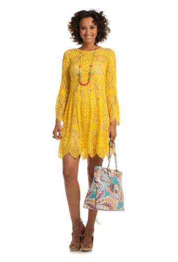 Trina Turk Trina Turk Lyyn Dress - Leoyellow - Size 0