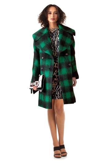 Trina Turk Trina Turk Natty Long Blanket Coat - Green - Size 0