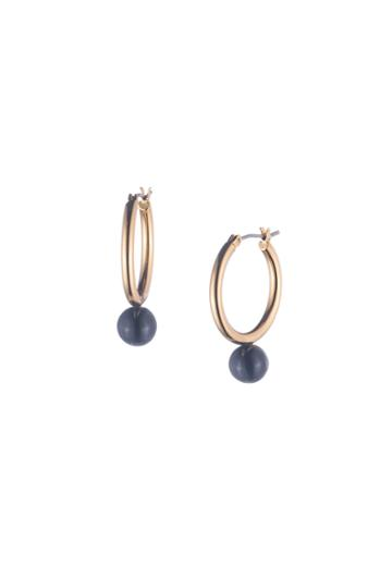 Trina Turk Trina Turk Beads In Bloom Hoop Earring - Navy - Size O/s
