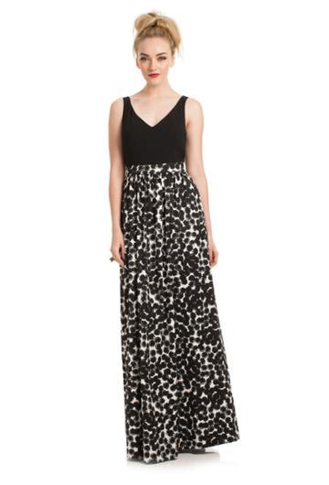 Trina Turk Trina Turk Ara Dress - Black/whitewash - Size 0