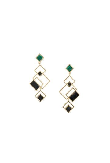 Trina Turk Trina Turk Sunset Geo Drop Earring - Black - Size Fit Guide