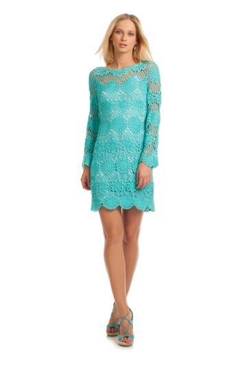 Trina Turk Trina Turk Devora Dress - Pearl/aqua - Size L
