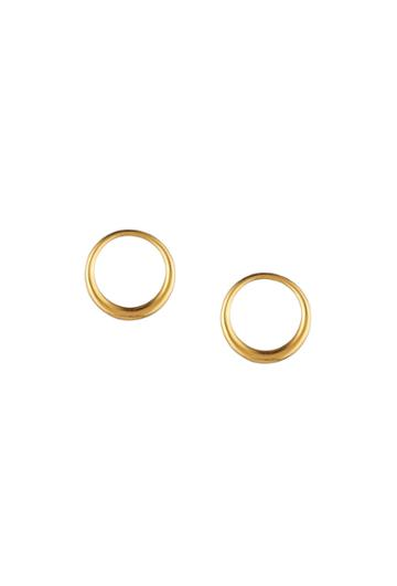 Trina Turk Trina Turk Hollywood Hills Hoop Post Earrings - Gold - Size Fit Guide