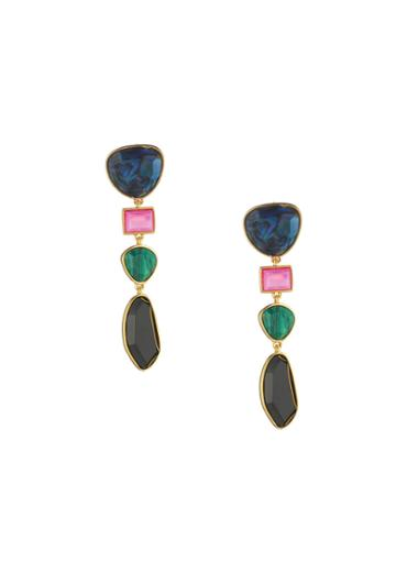 Trina Turk Trina Turk Hollywood Hills Linear Earrings - Gold - Size Fit Guide