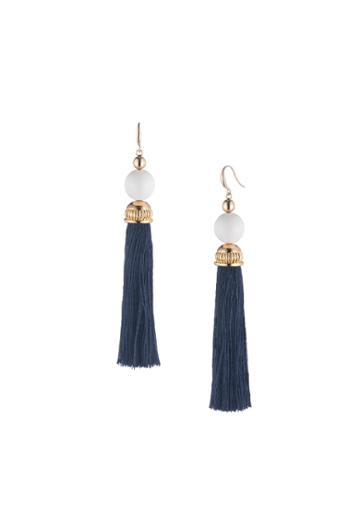Trina Turk Trina Turk Beads In Bloom Tassel Earring - Navy - Size O/s