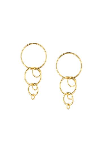 Trina Turk Trina Turk Hollywood Hills Linear Link Earrings - Gold - Size Fit