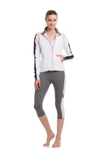 Trina Turk Trina Turk Color Blocked Jacket - Wht,blk - Size Fit Guide