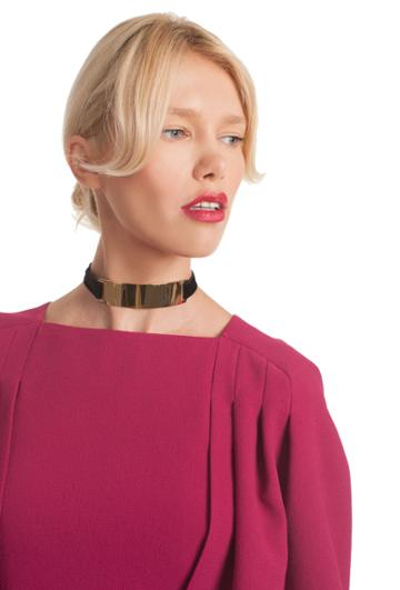 Trina Turk Trina Turk Sunset Tie Choker - Black - Size Fit Guide