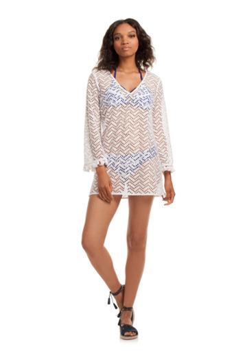Trina Turk Trina Turk Layne Cover Up - White - Size L