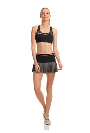 Trina Turk Trina Turk Color Blocked Hi-lo Pleated Skirt - Black - Size L