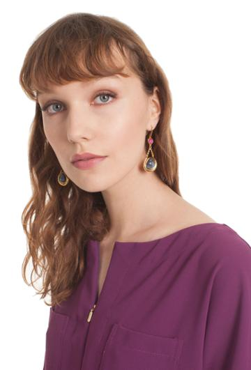 Trina Turk Trina Turk Hollywood Hills Drop Earrings - Gold - Size Fit Guide