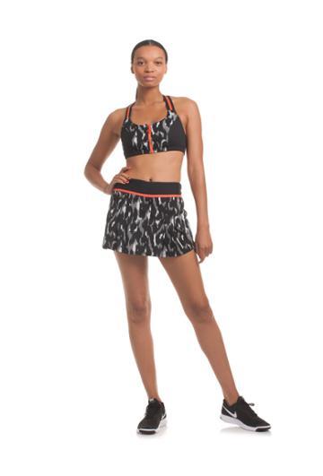 Trina Turk Trina Turk Leopard Luxe Jacquard T Back Sports Bra - Black - Size L