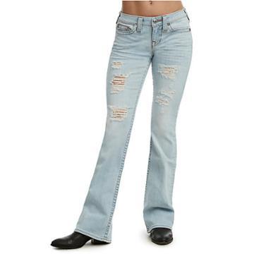 Bootcut Distressed Jean | Light Powder Blue | Size 24 | True Religion
