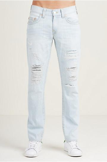 True Religion Slim Destruct Mens Jean - 32 Inseam - Hyper Fang