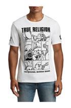 Men's Buddha Crew Neck Tee | White | Size Small | True Religion