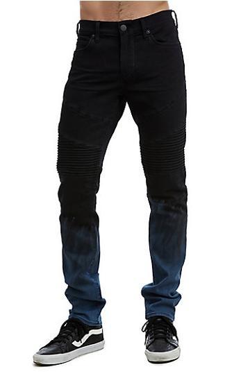 Mens Rocco Moto Skinny Jean | Pipeline Blue | Size 30 | True Religion